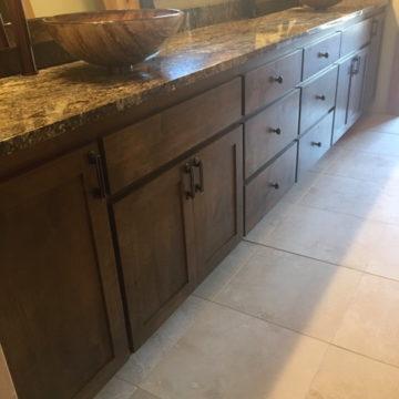 custom wood bathroom cabinets