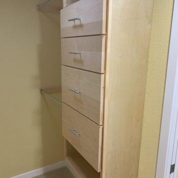 custom wood closet cabinets