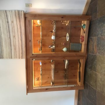 custom made wood cabinet