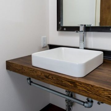 custom made bathroom counter and sink